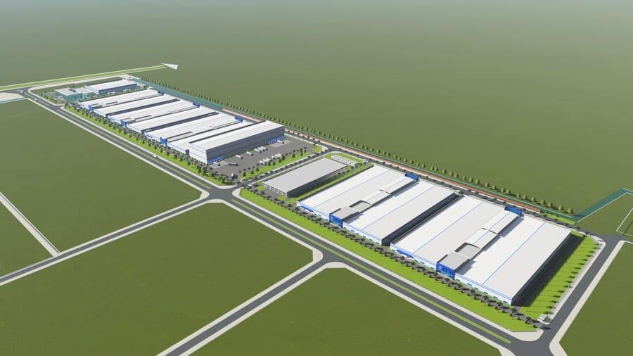 Mô hình dự án Nhà máy LUXSHARE-ICT (Vân Trung - Bắc Giang)