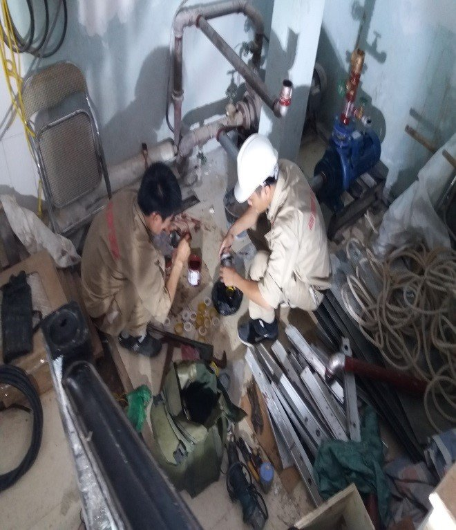 Thi công lắp đặt đường ống thép, Spinkler – Công trình: Nhà máy nhựa Y tế – KCN Đại Đồng – Bắc Ninh