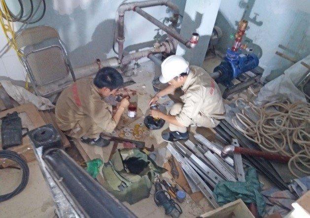 Bảo dưỡng, kiểm tra hệ thống bơm chữa cháy – Công trình: Chung cư F5 Trung Kính, Q. Cầu Giấy, Hà Nội